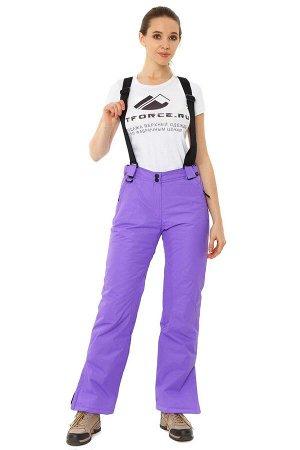 Женские зимние горнолыжные брюки фиолетового цвета 818F