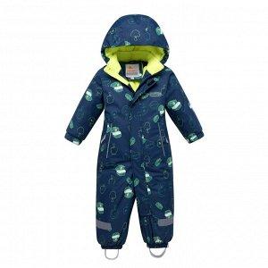Детский зимний комбинезон темно-синего цвета 8903TS