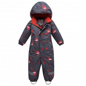 Детский зимний комбинезон темно-серого цвета 8903TС