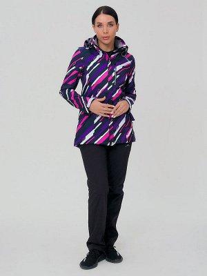 Женский осенний весенний костюм спортивный softshell фиолетового цвета 01923-1F