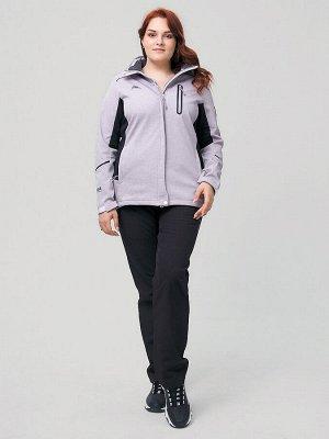 Костюм женский MTFORCE большого размера серого цвета 02036-1Sr