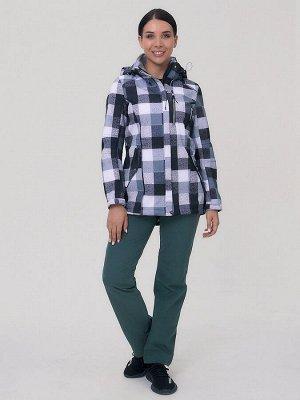 Женский осенний весенний костюм спортивный softshell серого цвета 01923Sr