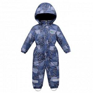 Детский зимний комбинезон синего цвета 8909S