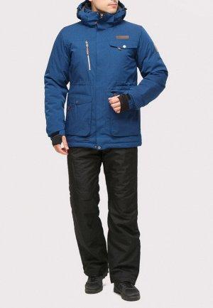 Мужской зимний костюм горнолыжный синего цвета 01910S