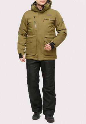 Мужской зимний костюм горнолыжный цвета хаки 01910Kh