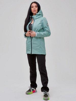 Костюм женский softshell бирюзового цвета 02023Br