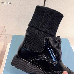 Ботинки Нат.кожа,трикотаж
