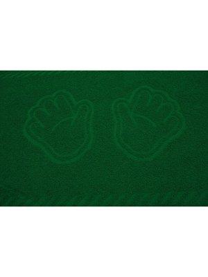 """Полотенце махровое """"Ручки темно-зеленый"""""""