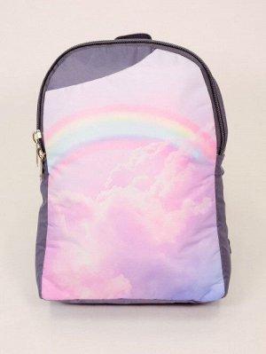"""Рюкзак """"Радуга в розовых облаках"""""""