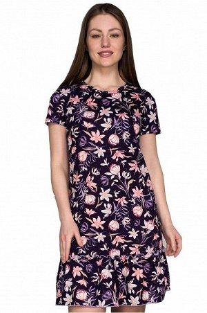 Платье 889 ягодка цветы