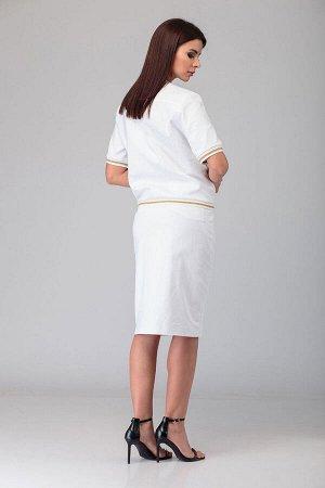 Костюм Костюм ANELLI 631.1  Состав: Хлопок-95%; Эластан-5%; Сезон: Весна-Лето Рост: 164  Комплект состоит из блузона и юбки.Блузон является одним из популярных предметов женской одежды. Он сочетаем с