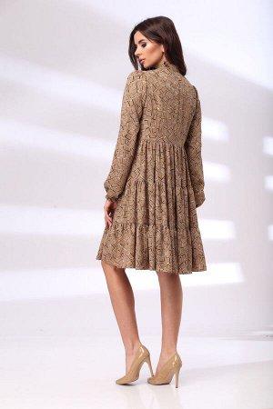 Платье Платье Bonna Image 1011  Состав: Вискоза-62%; ПЭ-34%; Спандекс-4%; Сезон: Лето Рост: 164  Стильное женское платье свободного силуэта, выполнено из летящей плательной ткани. Платье отрезное выш