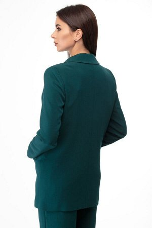 Костюм Костюм ANELLI 872 зеленые тона  Состав: Спандекс-3%; Хлопок-66%; Нейлон-31%; Сезон: Весна-Лето Рост: 164  Брючный комплект выполнен из костюмной ткани в чёрном, синем, зелёном и светло-сером о