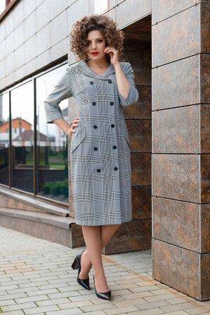 Платье Платье Avanti Erika 1036 серый  Состав: Спандекс-4%; Нейлон-23%; Район-73%; Сезон: Осень-Зима Рост: 164  Элегантное платье полуприлегающего силуэта из костюмно-плательной ткани. На переде имит