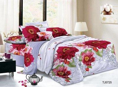 ECOLAN - домашний текстиль, яркие принты! Наматрасники! — Постельное белье (полисатин) - евро — Двуспальные и евро комплекты