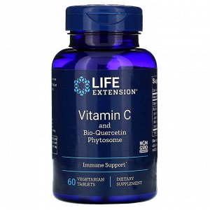 Life Extension, Витамин C с фитосомами биокверцетина, 60 вегетарианских таблеток