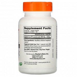 Doctor&#x27 - s Best, Витамин C с Quali-C, 500 мг, 120 вегетарианских капсул