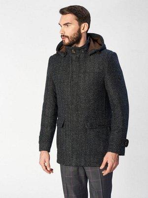 2017 S BLACK DK GREY/ Пальто мужское
