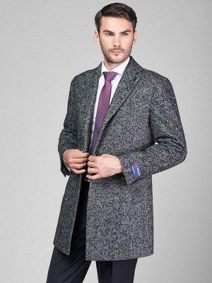 2065У M CISMON BLACK GREY/Пальто мужское