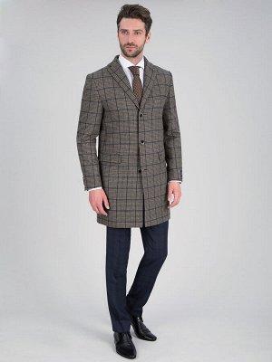2053У-1 S TADDEO GLEN PLAID BROWN/ Пальто мужское