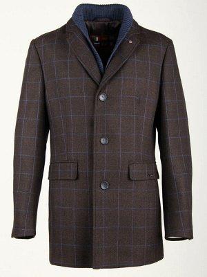 2068-3 S BROWN CHECK/ Пальто мужское