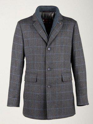 2068-3 S DK GREY CHECK/ Пальто мужское