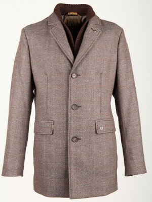 2068-3 S BEIGE CHECK/ Пальто мужское