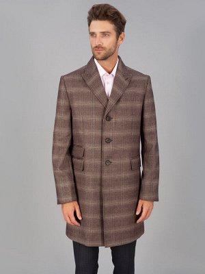 5040 M BROWN CHECK/ Пальто мужское
