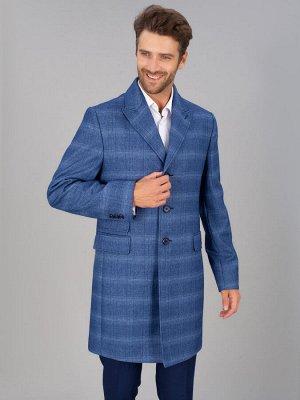5040 M NAVY CHECK/ Пальто мужское