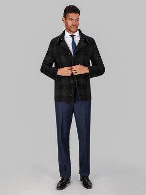 5023 S BLACK GREY CHEK/ Пальто мужское