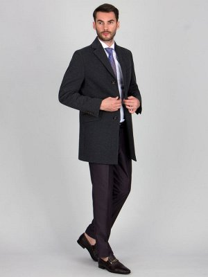 2062 M KNIT DK GREY/ Пальто мужское