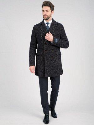 2066У S BARGELLO NAVY BROWN/Пальто мужское