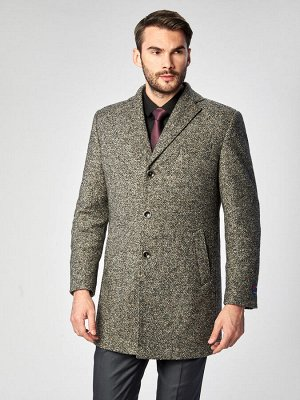 2065У M ALA GREY BLACK/Пальто мужское