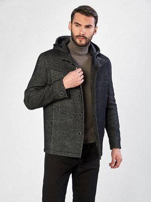 2071 S VENTUNO BLACK/Пальто мужское