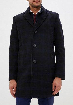 5046-4M CHEK BLACK NAVY/Пальто мужское