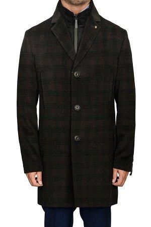 5046-4M CHEK BROWN BLACK/Пальто мужское