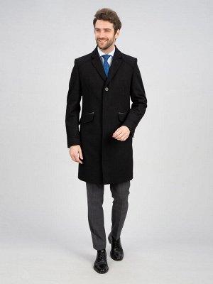 2048У S MELTON BLACK/ Пальто мужское