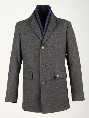 5028-2 S BLACK GRIT NAVY/ Пальто мужское