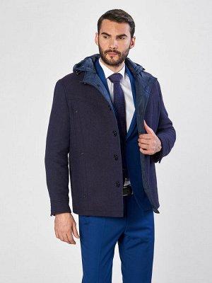 2071 S NAVY BORDO/Пальто мужское