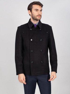 5027 S CHEK GREY BLACK/ Пальто мужское
