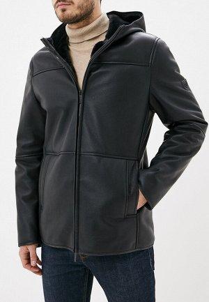 3022 M CARVEN BLACK/Куртка мужская (дубленка)