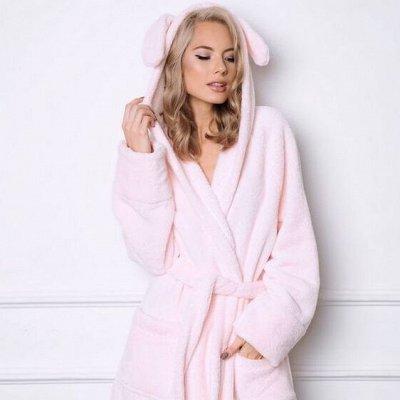 Домашняя одежда, халаты, пижамы. Мужской и женский трикотаж — Женские халаты из велсофта