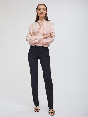 Прямые брюки, черные на бедра 90-92 см