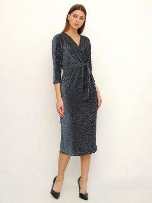 Платье Материал: 100% полиэстер; Цвет: синий металлик