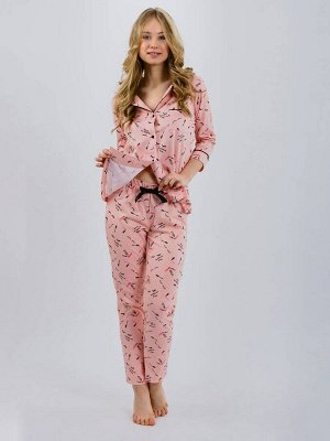 Пижама женская ML-Классика(реснички, пуг.)