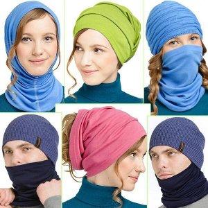 """NORVEG Снуд (шарф """"труба"""") unisex, цвет светло-коричневый меланж, размер one size"""