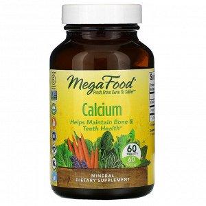 MegaFood, Кальций, 60 таблеток