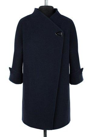 01-08685 Пальто женское демисезонное Пальтовая ткань темно-синий