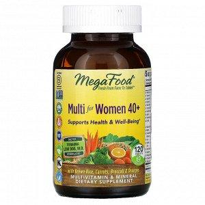 MegaFood, комплекс витаминов и микроэлементов для женщин старше 40 лет, 120 таблеток