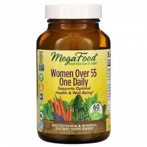 MegaFood, мультивитамины для женщин старше 55 лет, 60 таблеток